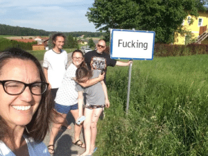 While visiting Austria, we drove an hour out of our way just to get a picture in this small town.: While visiting Austria, we drove an hour out of our way just to get a picture in this small town.