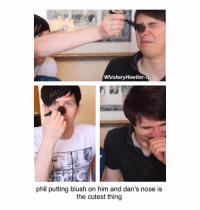 Memes, Videos, and Time: WhiskeryHowlter-1G  phil putting blush on him and dan's nose is  the cutest thing im so nostalgic for 2013 dnp bc id seen them around before and seen their videos from time to time but that's around the time i started actually getting obsessed with them and seeing how much they've changed really takes me back