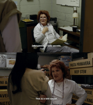 ssavasana:  When someone makes you think they're about to tell you some juicy gossip : [whisperingl I love secrets   PASTA PRIMAVERA  BEEF STEW  TA  NI  HEESE  HICKE AKING  AVE  This is a shit secret.  KING  NGTO ssavasana:  When someone makes you think they're about to tell you some juicy gossip