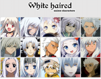 White Baired Anime Characters Comment Your Favorite White Haired Anime Character Red Animals Meme On Me Me
