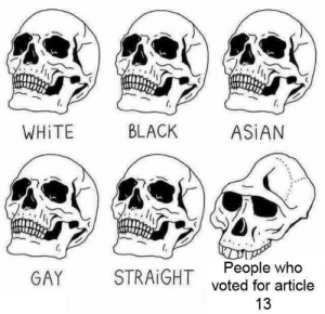 Asian, Dank, and Memes: WHİTE  BLACK  ASİAN  People who  voted for article  13  GAY  STRAIGHT Article 13 by FruityLups MORE MEMES