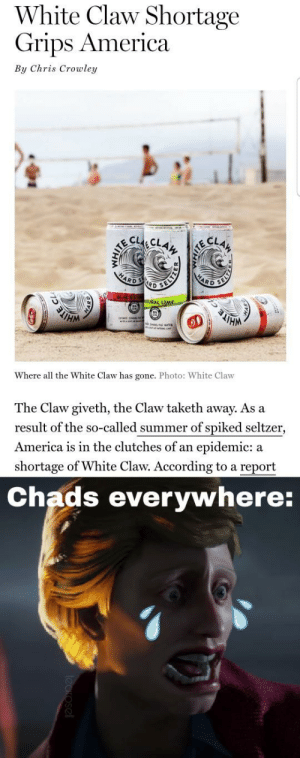 White Claw Shortage Grips America by Chris Crowley CLAH ...