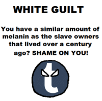 white guilt explained.: WHITE GUILT  You have a similar amount of  melanin as the slave owners  that lived over a century  ago? SHAME ON YOU! white guilt explained.