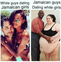 Booty, Memes, and White Girl: White guys dating  Jamaican guys  Jamaican girls Dating white girls Relationship goals 😍😍👌👊🙌☝☝ I love me a bit of an OBOLOBO girl 💯✔🏃🏃🏃🏃🏃🏃 ♻ repost from the booty grower 🍑🔥@curlyweeerly 👌👊