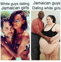 Diss, Memes, and White Girl: White guys dating  Jamaican guys  Jamaican girls Dating white girls LOOOOOOOL @t1officiall diss at 6!!!!