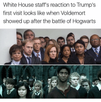 White House, House, and White: White House staff's reaction to Trump's  first visit looks like when Voldemort  showed up after the battle of Hogwarts