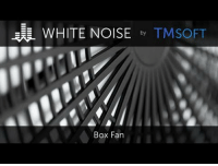 Apple, Energy, and Google: WHITE NOISE by TMSOFT  .  Box Fan   Our most popular fan sound to help you sleep better has been extended to 10 full hours of perfectly looped fan noise. Many people use a fan in their bedroom to block out distractions and sleep better. This medium-speed box fan recording is the perfect replacement of your bedroom fan and itll save you space and require less energy especially during the colder months. Its available as a free download to our White Noise app or you can stream it on popular music services like Google Play Music, Apple Music, and Spotify. Visit https://boxfansound.com for more streaming options!