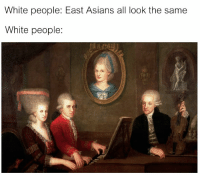 White People: White people: East Asians all look the same  White people: