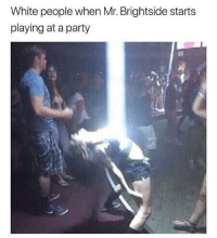 """Party, Tumblr, and White People: White people when Mr. Brightside starts  playing at a party <p><a href=""""http://memehumor.net/post/175186682242/im-coming-out-of-my-cage"""" class=""""tumblr_blog"""">memehumor</a>:</p>  <blockquote><p>I'm coming out of my cage</p></blockquote>"""