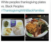 Bruh, Memes, and Racism: White peoples thanksgiving plates  vs. Black Peoples  #ThanksgivingWithBlackFamilies  uscan  1% Thanksgiving really gon make me hate black people bruh WTF IS THIS LMFAOOOOOOO this blatant racism