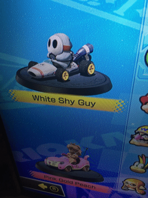Meirl: White Shy Guy  Pink Gold Peach Meirl