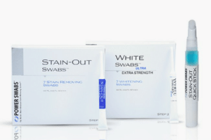 Power, White, and Teeth: WHITE  STAIN-OUT  SWABS  ULTRA  EXTRA STRENGTH  7 WHITENING  7STAIN REMOVING  SWABS  2  no  STEP 2  STEP Power Swabs Teeth Whitening Scam! - Be Very Careful | TeethMastery