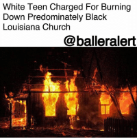 "Cars, Church, and Driving: White Teen Charged For Burning  Down Predominately Black  Louisiana Church  @balleralert White Teen Charged For Burning Down Predominately Black Louisiana Church - Blogged by: @RaquelHarrisTV ⠀⠀⠀⠀⠀⠀⠀⠀⠀ ⠀⠀⠀⠀⠀⠀⠀⠀⠀ A white teenager is being charged with arson after burning down a predominately Black church in Louisiana. ⠀⠀⠀⠀⠀⠀⠀⠀⠀ ⠀⠀⠀⠀⠀⠀⠀⠀⠀ The fire reportedly took out the new sanctuary of St. Paul Missionary Baptist Church on Tuesday but the church community's older building was untouched. ⠀⠀⠀⠀⠀⠀⠀⠀⠀ ⠀⠀⠀⠀⠀⠀⠀⠀⠀ Witnesses say they saw an Entergy Corp truck driving away from the scene. Less than 30 minutes later, police identified the driver as a white male who lived nearby. ⠀⠀⠀⠀⠀⠀⠀⠀⠀ ⠀⠀⠀⠀⠀⠀⠀⠀⠀ One of the church members, Mary Alexander, told officials numerous members of the congregation had a meeting in the church the night before. Some claimed to have talked with the 15-year-old moments before the fire. ⠀⠀⠀⠀⠀⠀⠀⠀⠀ ⠀⠀⠀⠀⠀⠀⠀⠀⠀ ""We don't know why only God knows why. What's going through that person's mind so we just ask for prayers for that person as well as our church family,"" said Alexander. ⠀⠀⠀⠀⠀⠀⠀⠀⠀ ⠀⠀⠀⠀⠀⠀⠀⠀⠀ Investigators say the teen was also the culprit behind stealing two Entergy trucks. They believe he used the second truck to drive into several cars in a high school parking lot. He has since been arrested and charged with arson."