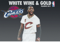 Espn, Memes, and Cleveland: WHITE WINE & GOLD  PLAYOFFS 2017  NBA  AND  VEL DoubleTap if the Cavs should wear these White Wine and Gold Jersey's! 🔥 (📷: @imanamateurgraphicdesigner) TAGS: TeamCavsIG Cle Cleveland Cavaliers Cavs CavsNation ClevelandCavaliers GoCavs NBA NBATV ESPN Sports Nike Basketball BallIsLife StriveForGreatness AllForOne ThisIsCle Believeland TheLand TheQ Finals Together Witness KobeBryant TeamCavsIG Ipromise NBAFinals Ohio CTown