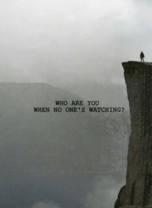 Who, You, and Who Are You: WHO ARE YOU  WHEN NO ONE'S WATCHING?