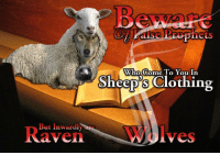 """<p>[<a href=""""https://www.reddit.com/r/surrealmemes/comments/7uyqvu/false_prophets/"""">Src</a>]</p>: Who Come To You In  Sheep's Clothing  But Inwardly are  R  aven  Wolves <p>[<a href=""""https://www.reddit.com/r/surrealmemes/comments/7uyqvu/false_prophets/"""">Src</a>]</p>"""