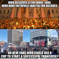 God, Logic, and Memes: WHO DESERVES ACUPMORE FANS  WHO HAVE FAITHFULLY WAITED FOR DECADES  GOD  nhl_ref_logic  OR NEW FANS WHO COULD USE A  CUP TO STARTASUCCESSFULFRANCHISE? If pain and suffering decided who who won the Cup the sharks would have at least a couple