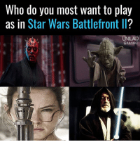 Memes, Star Wars, and Star: Who do you most want to play  as in Star Wars Battlefront II?  UNILAD  GAMING Who's your dream character?