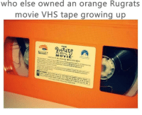 """Memes, 🤖, and Vhs: who else owned an orange Rugrats  movie VHS tape growing up  THE  UG员北  MOVIE'  1998Cor/81 Min/Stereo g ociiiialqa  81 Min/Stereo/g Rea  ir! ,sc,""""e PinutPetin and Vacon int Inc A: Rights Renes From The Nostalgic 90s"""