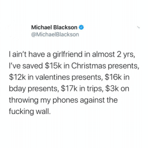 Who else saved money by being single?! 👇🤔 @MichaelBlackson https://t.co/ItpL4D02de: Who else saved money by being single?! 👇🤔 @MichaelBlackson https://t.co/ItpL4D02de