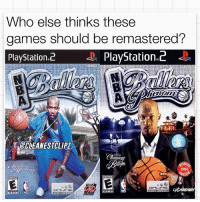 Yes 🙌🔥: Who else thinks these  games should be remastered?  PlayStation 2 D PlayStation 2  BCLEANESTALIPZ  SON  DISC  EMUYONE  CDMIDWAY  ONLINE Yes 🙌🔥