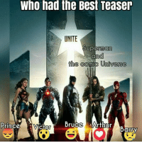 Victor: Who had the Best Teaser  UNITE  Superman  and  the  Connie Universe  Prince  Victor  rUCC  Ur  Barry
