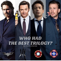 Batman, Memes, and Winter: WHO HAD  THE BEST TRILOGY?  SBATMAN UPDATES From @batman_updates - Batman is always number 1 for me. But I also liked CA: The Winter Soldier and Logan as well 👊