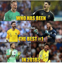 Which goalie?🔥: WHO HAS BEEN  Footy Base  THE BEST #1  EVROLE  rade  luss00  IN 20182  Sanda  arve Which goalie?🔥