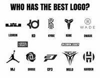 Memes, Best, and Kobe: WHO HAS THE BEST LOGO?  WADE  LEBRON  KD  KYRIE  KOBE  DWADE  LEBRON.  @LEBRON LEGACY  LEGACY  CP3  MJ  HARDEN  DROSE  MELO Which of these players has the best logo? Comment below👇 (via @lebron.legacy)