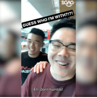 Memes, One-Punch Man, and Guess: WHO I WITH?!?!  M GUESS Eh, don't humble! Bobby hangs out with @ONEChampionship's @christianleemma..... and they find out who's THE REAL ONE PUNCH MAN!!! Come support Christian's sister, @angelaleemma, on 26 May at the Singapore Indoor Stadium! sp
