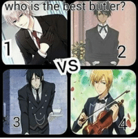 Sebby ofc but after seeing he tried to eat ciel Its little scary (manga readers know) . . . . . . . . . .: Who is the best butler?  VS Sebby ofc but after seeing he tried to eat ciel Its little scary (manga readers know) . . . . . . . . . .