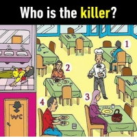 9gag, Dank, and Funny: Who is the killer?  0  2  4  WC It's harder than you think 🤔 Answer ➡️ https://9gag.com/gag/ad9K3mj/sc/funny?ref=fbsc