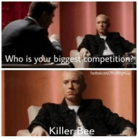 No doubt 🙌🏼  - Might Guy: Who is your biggest competition?  facebook.com/OfficialMightGuy  Killer Bee No doubt 🙌🏼  - Might Guy