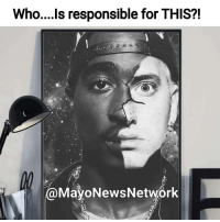 No seriously.... WHO???!!!! Is responsible for this fuckery bullshit?! Tag them!!! And don't tell me that Eminem is great enough to be compared to Pac. Fuck that! Eminem is a great lyricist but he doesn't say ANYTHING worth talking about! Past your excitement over him rhyming multiple syllables to each other, what does he say that is prolific or even meaningful?? The deepest song that he has had that I've heard was cleaning out my closet or something. Eminem just be rhyming saying a bunch NOTHING. From a lyricist standpoint, yeah he is great. But when you're talking overall.... Fuck no.... Muthafucka barely even does interviews or interacts with anyone NOT on his dam payroll. How are you one of the greatest or on the level of one of the greatest when you can't even interact with your own dam fans?? But hey, I could be wrong. Dude could be out here doing all kinds of shit that I don't know about but as far as I can see from what I know he's a ultra introvert that is hyper lyrical with no REAL content as Joe Budden said. I've always thought that about him but the fact that he never spits a lame verse or a verse that made him sound like a complete idiot I didn't give it much thought. But, if you're going to compare HIM to Tupac Amaru Shakur.... Nah son.... Cut it out.... And to be honest, I was going to mention his race but how I feel about THIS has nothing to do with his race. He just isn't THAT overall great. Shit is deeper than JUST bars fool. If y'all want to make him the greatest, he is probably the greatest white rapper hands down. But when you start including Black M.C.'s.... Fuck no.... Like I said earlier..... Blasphemous heathens....the whole lot of ya! 😠😠😠 Via @mayonewsnetwork Tupac HendrixBrown repost picoftheday photooftheday hiphop rap rappers eminem 2pac BlackPeople BlackMen blackandwhite art BlackArt wow thuglife crazy artsy artist artwork artistic artistsoninstagram artgallery blackandwhitephotography instagood instagram: Who....ls responsible for THIS