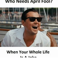 Life, Memes, and April: Who Needs April Fool?  When Your Whole Life
