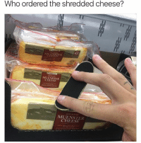 Memes, 🤖, and Cheese: Who ordered the shredded cheese?  42  MUENSTER  CHEESE  DELI SLICED  MIUENSTER  CHEESE Gnarly
