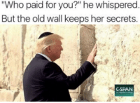 """Old, MeIRL, and Her: Who paid for you?"""" he whispered  But the old wall keeps her secrets  CSPAN meirl"""