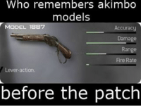 Who remembers??: Who remembers akimbo  models  MODEL 1887  Accuracy  Damage  Range  Fire Rate  Lever action  before the patch Who remembers??