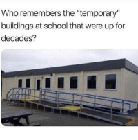 "Dank, School, and 🤖: Who remembers the ""temporary""  buildings at school that were up for  decades?"