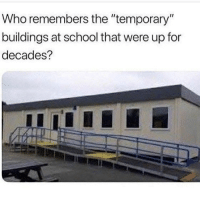 """Memes, School, and 🤖: Who remembers the """"temporary  buildings at school that were up for  decades?"""