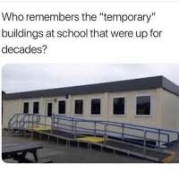 "School, Target, and Tumblr: Who remembers the ""temporary""  buildings at school that were up for  decades? izzetseer: angelbabyspice: …what??? this is a universal experience because education is chronically underfunded across the world"