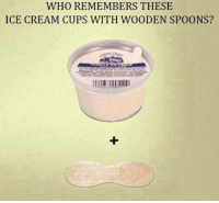 Memes, Ice Cream, and 🤖: WHO REMEMBERS THESE  ICE CREAM CUPS WITH WOODEN SPOONS?