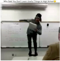 Memes, School, and 🤖: Who Said You Don't Learn Useful Things In High School The headbanging kills me😂💀 - Tag A Friend Drop A Like For More Check Out My Other Posts🔥 Follow 👉 @they