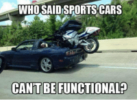 Sports cars win again. Car Throttle: WHO SAIDSPORTSCARS  CANT BERUNCTIONALP Sports cars win again. Car Throttle