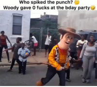 Funny, Party, and Ugg: Who spiked the punch?  Woody gave O fucks at the bday party 😂😂😂 Woody went off in his lil uggs.. funniest15 viralcypher funniest15seconds ugg Www.viralcypher.com