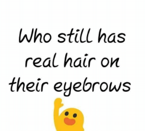 eyebrows: Who still has  real hair on  their eyebrows