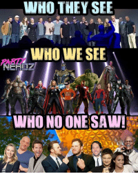 Memes, Movies, and Nerd: WHO THEY SEE  WO WE SEE  WHO WE SEE  PARTY  LIKE A  WHO NO ONE SAW! Although some of the cast members weren't on stage, something tells us that EVERYONE will make a cameo in this film... Hopefully... MAYBE even the Defenders 😱😱 We can dream can't we? . . gamora Marvel movies cosplayers drax starlord netflix x23 panel lukecage negan comingsoon cosplayer doctorstrange gamer blackpanther cosplay nerd infinitywar Thanos geekgirl partynerdz deadpool spiderman wintersoldier scarletwitch guardiansofthegalaxy defenders