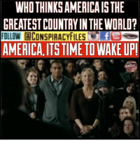 America, cnn.com, and Facebook: WHO THINKS AMERICAIS THE  GREATEST COUNTRY IN THE WORLO?  FOLLOW @CONSPIRACYFILESer3塁ラ  AMERICA, ITS TIME TO WAKE UP! Double tap and tag a friend! ViewPreviousPost CHECK US OUT ON FACEBOOK! @conspiracyfiles SUBSCRIBE ON YOUTUBE! @conspiracyfiles YouTube She got roasted 💯 (Comment your thoughts below👇🏼) ConspiracyFiles ConspiracyFiles2 America NotTheGreatestCountry TeLieVision BrainWashingTool BluePill RedPill LetThatSinkIn CorruptGovernment FakeNews CNN CNNFakeNews FoxNews Sheeple WakeUpSheeple CorporationSlayer Rothschild Bilderberg UncleSam UncleScam SynagogueOfSatan Illuminati NewWorldOrder ConspiracyJokes ConspiracyFact ConspiracyTheories ConspiracyTheory Conspiracy ConspiracyFiles Follow back up page! @conspiracyfiles2 Follow @uniformedthugs Follow @celebrityfactual