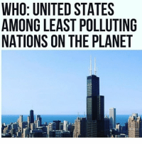"""America, Memes, and Savage: WHO: UNITED STATES  AMONG LEAST POLLUTING  NATIONS ON THE PLANET  I E  SUA  ELL  TLP  TP  STI  DS  EAN  TEO  ーーーーーLS  UGN  """"""""NO  00  00 TI  IMA  WAN China are the real polluters but the USA always gets blamed.-No more! liberal maga conservative constitution like follow presidenttrump resist stupidliberals merica america stupiddemocrats donaldtrump trump2016 patriot trump yeeyee presidentdonaldtrump draintheswamp makeamericagreatagain trumptrain triggered Partners --------------------- @too_savage_for_democrats🐍 @raised_right_🐘 @conservativemovement🎯 @millennial_republicans🇺🇸 @conservative.nation1776😎 @floridaconservatives🌴"""