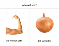 Old, Human, and Arm: who will win?  Ock  the human arm  old williams